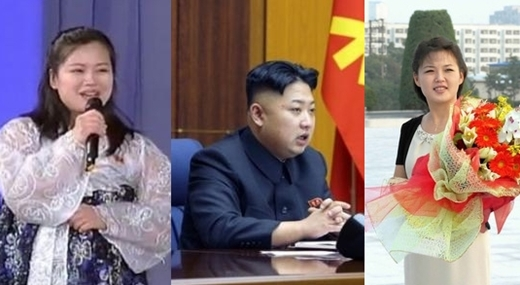 Hyon Song-wol (kochanka) - Kim Jong Un - Ri Sol-ju (żona)